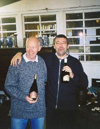Kuaska e J.Pierre Van Roy (Cantillon) con bottiglie Baladin